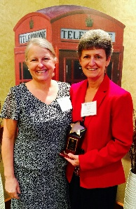 WOVI 2014 Mentor of the Year: Jackie Girard (right) & Jeri Sutton - Nominator Hockaday