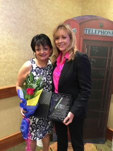 Mentor of the Year - Nonprofit - Advocacy for the Homeless - Kelly Harris (right) and Shama Shams